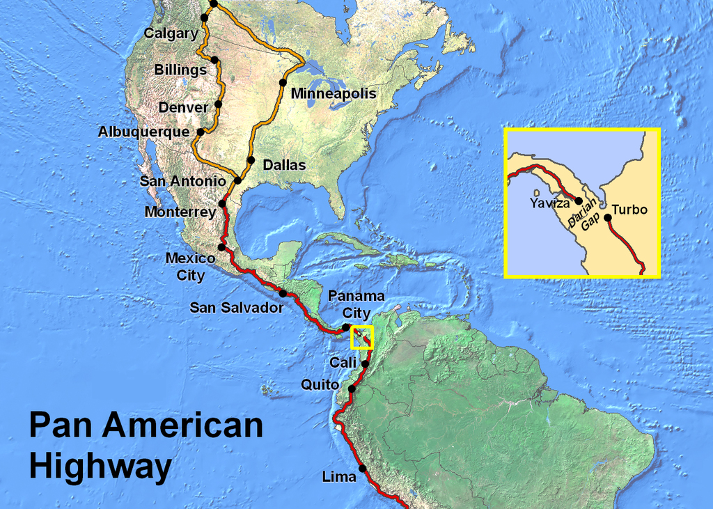My Pan-American Cycling Route is Beginning to Unfold!