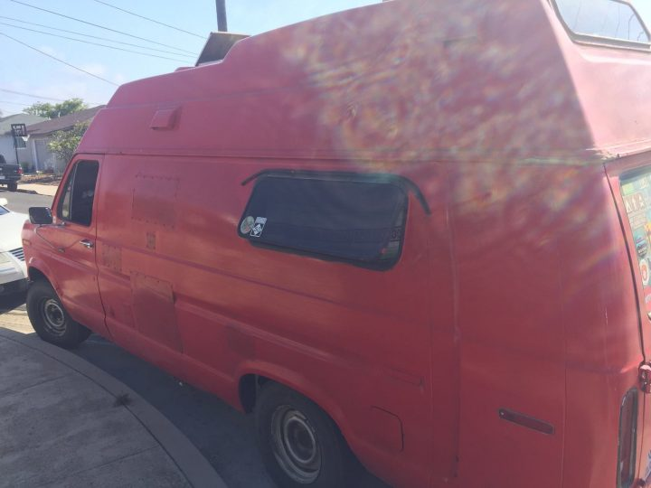 van conversion for The Pedal Project